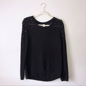 H&M | Divided Studded Black Sweater